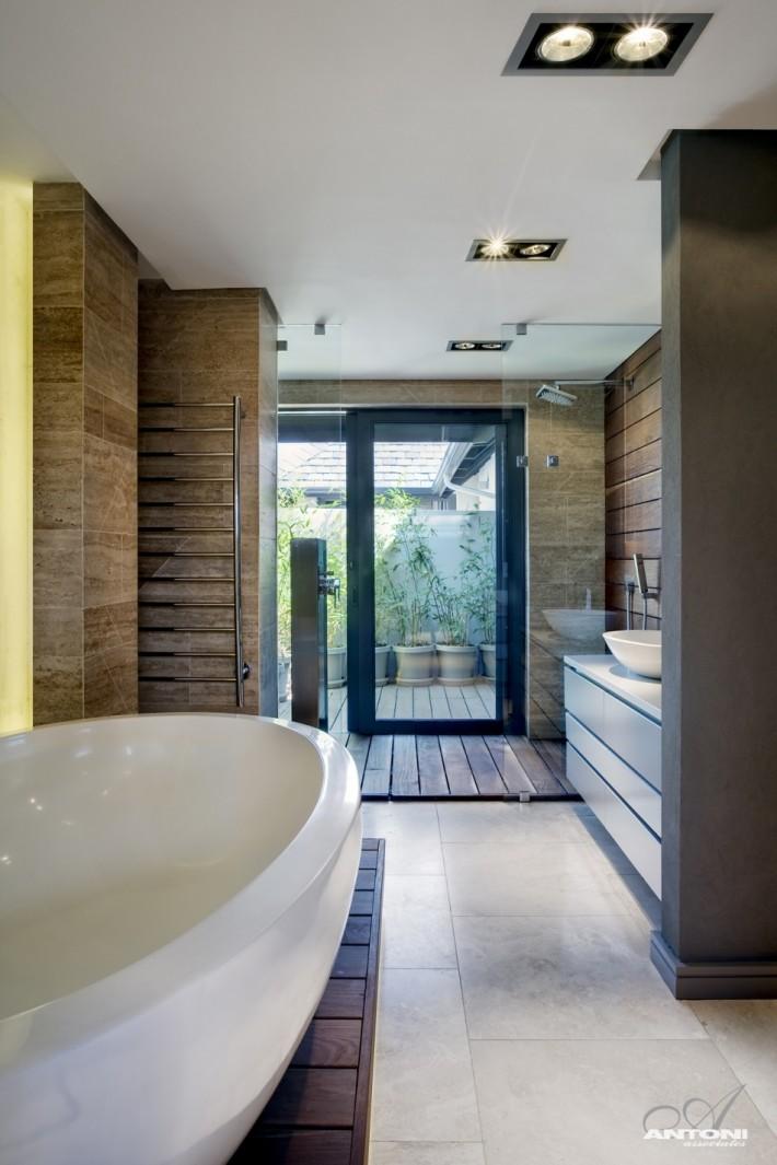 duża łazienka z wanną wolnostojącą  Inspiracje wnętrza  Pinhouse