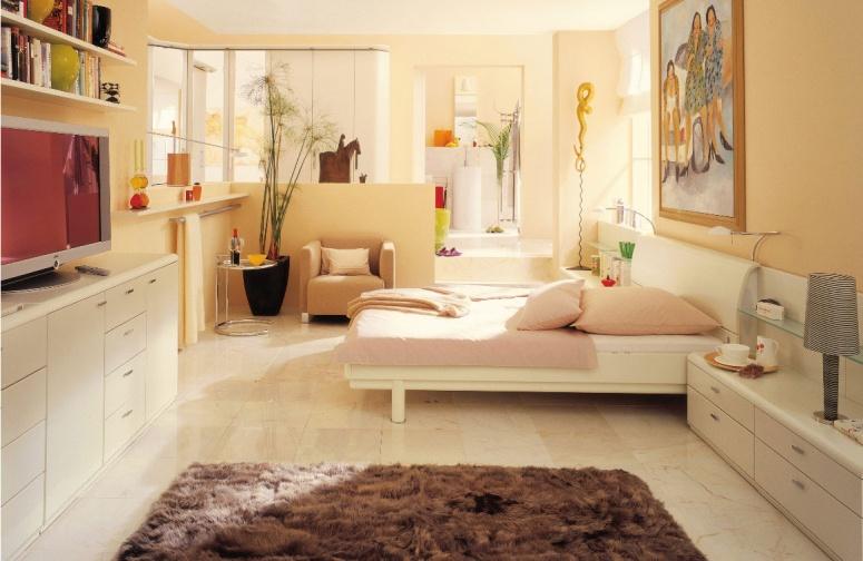 kremowa sypialnia z łazienką  Inspiracje wnętrza  Pinhouse