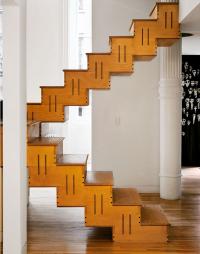 nowoczesne schody bez poręczy