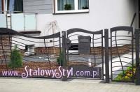 nowoczesne metalowe ogrodzenie www.stalowystyl.com.pl