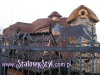 kute ogrodzenie z kotem www.stalowystyl.com.pl