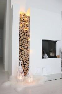 Drewno do kominka przechowywanie w domu