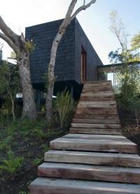drewniane schody zewnętrzne
