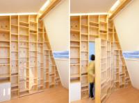 pomysł na półki na książki, domowa biblioteka
