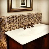 Mozaika szklana w łazience