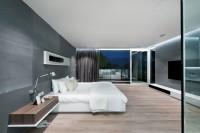 duża męska sypialnia