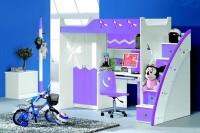 Łóżko piętrowe MARCO POLO kolor fioletowy / Produkt / Meble do sypialni, kuchni, łazienki – ...
