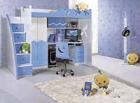 Łóżko piętrowe MARCO POLO kolor niebieski / Produkt / Meble do sypialni, kuchni, łazienki – ...