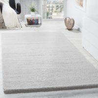Miękki dywan biały – seria velluto   Shaggym.sklep.pl