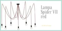 Lampa wisząca Spider red VII