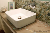 Otoczaki w łazience – ściana z otoczaków łazienka