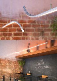 Gięte profile LED od Kludesign