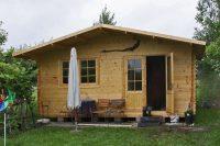 Drewniany domek na działkę