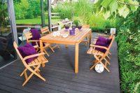 Składane krzesła z drewna akacjowego
