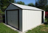 Metalowy garaż ogrodowy