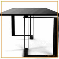 Biurko industrialne do gabinetu z podwójnymi stalowymi nogami
