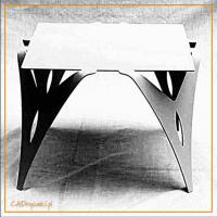 Stół obiadowy z artystycznymi nogami do jadalni i na salony