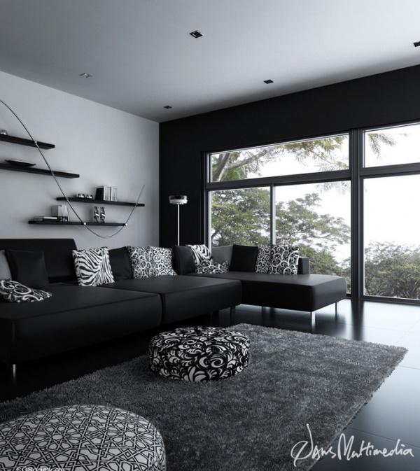Gold White Interior Design: Czarno Białe Wnętrza