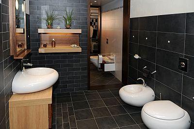 Czarna łazienka Wnętrza Inspiracje