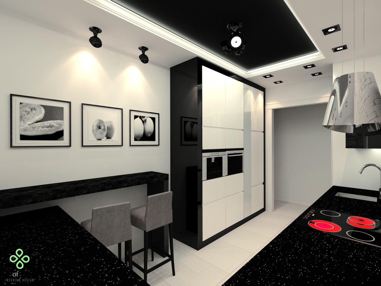 Czarna kuchnia  Wnętrza inspiracje