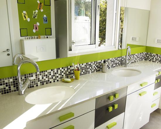 Zielona łazienka Wnętrza Inspiracje
