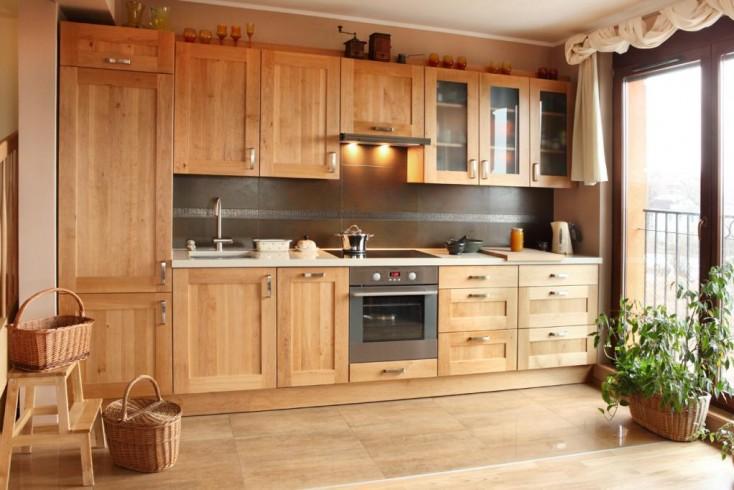 Mała kuchnia? To nie problem!  Wnętrza inspiracje -> Kuchnia Drewniana Olcha