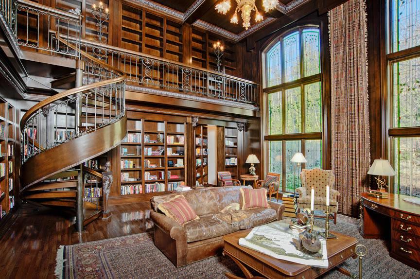 stylowa domowa biblioteka wn trza inspiracje
